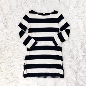 J. Crew navy and blue stripe maritime dress